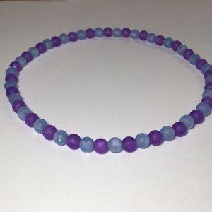 Vsco purple/blue choker